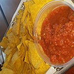 When you order nachos and salsa, you get enough for 4 people!!! Yumm.
