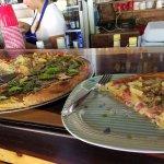 hawaiian and tomato basil pizza