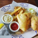 Pacific cod and chips