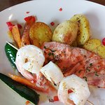 mixed seafood grill