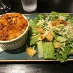 Crab quiche and Caesar salad...yummy