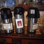 Julian Hotel's coffee & decaf coffee served daily for breakfast & afternoon tea.