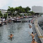 Infinity pool at the top of the Marina Bay Sands hotel