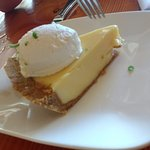 Key Lime pie was divine