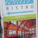 Large outdoors bistro signage