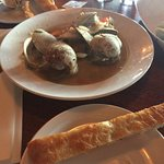 Steamers and Focaccia as an Appetizer