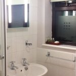 sink & light up mirror with wonderful scented toiletries