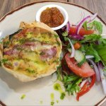 Ham, cheese and brie quiche