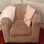 chair & really soft throw