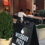 WiseGuy Pizza has a nice outside area
