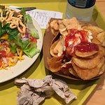 Navajo tacos and homemade potato chips