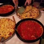 Deep dish and thin crust at Pizano's