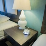 Outlets and USB ports by the bed