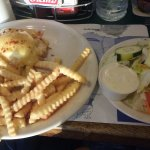 crab+french fries + salad. Perfect!