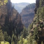 View from the top of Hanging Lake Trail through Dead Horse Canyon.