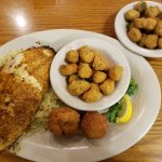 Blackened Red Snapper and Two Sides of Okra Plus Hushpuppies