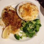 Baked Scrod, Au Gratin potatoes