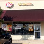 front of & entrance to Dairy Queen