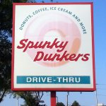 sign for Spunky Dunkers