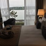 The view of Lake Geneva from my room (No. 242)
