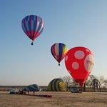 熱気球離陸地