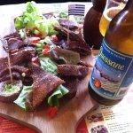 planche de crêpes à partager + cruchon de cidre + bière Ouessane aux algues