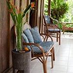 The verandah with garden views- perfect for bird watching