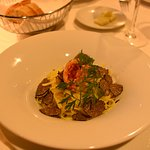 Taglierini with truffle and lobster tail