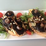 Roasted Field Mushroom & Haloumi Bruschetta