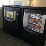 Snack machine on premium floor.