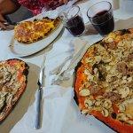 Calzone and Da Remo pizza
