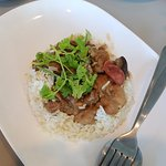 Steam Rice with chicken & Chinese sausage
