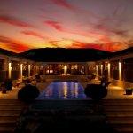 Gästehaus bei Sonnenuntergang