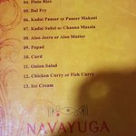 The Thali Menu
