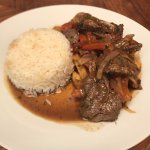 Final product of Lomo Saltado!