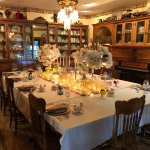 Table setting in the dining room