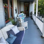 Wrap around porch that guests can use