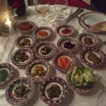 The sampling of salads at Al Fassia -- each one delectable!
