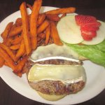 Turkey & Brie Burger w/ Sweet Potato Fries