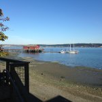 View of Penn Cove from restaurant