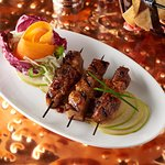 Pork Belly Kebobs Pinchos With Caramel, Soy & Aji Pepper