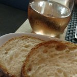 Fresh bread and dry rosé.
