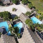 Aerial of Aitutaki Escape