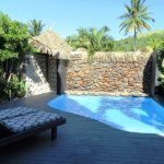One Bedroom Beachfront Villa private courtyard and pool