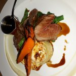 This was cooked to perfection by Gino. The lamb rump with dauphinouse potatoes and seasonal vege