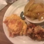 squash casserole, skillet baked apples, chicken
