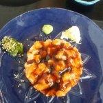 comida japonesa - arroz, salmão e salsinha...hummmm