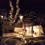 Rooftop dinner in Hydra