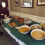 Sparse breakfast buffet