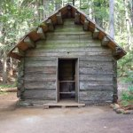 cabin on trail at Longmire